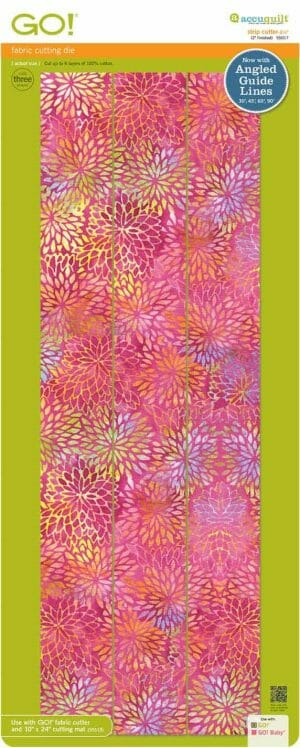 """Accuquilt GO! Strip Cutter - 2-1/2"""" (2"""" Finished) 3 Strips"""