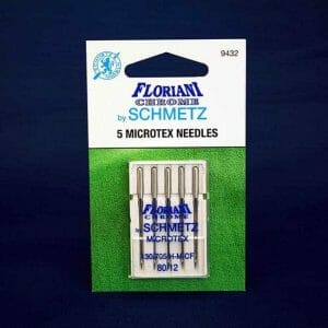 Floriani Chrome Microtex Needles Size 80/12 (9432)