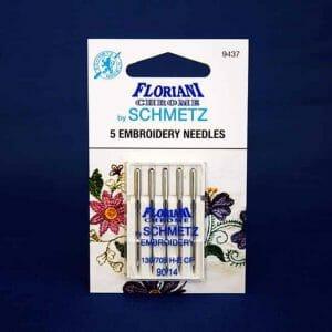Floriani Chrome Embroidery Needles Size 90/14 (9437)