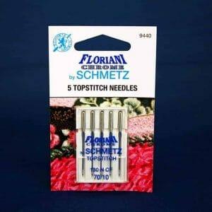 Floriani CHrome Topstitch Needles Size 70/10 (9440)