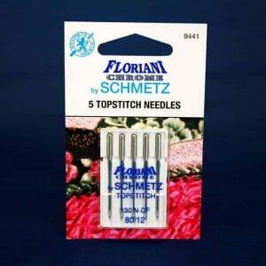 Floriani Chrome Topstitch Needles Size 80/12