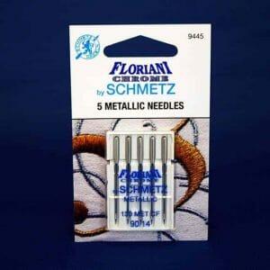 Floriani Chrome Metallic Needles Size 90/14 (9445)