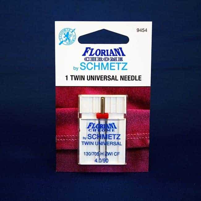 Floriani Chrome Twin Universal Needle Nize 4.0/90 (9454)