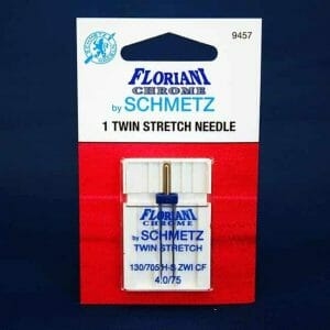 Floriani Chrome Twin Stretch Needle 4.0/75 (9457)