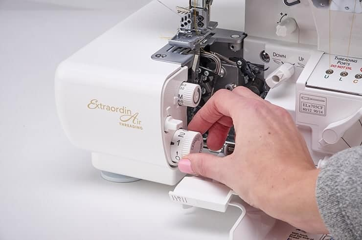 Baby Lock Accolade Serger - Dial Adjustable Stitch Length and Automatic Rolled Hem