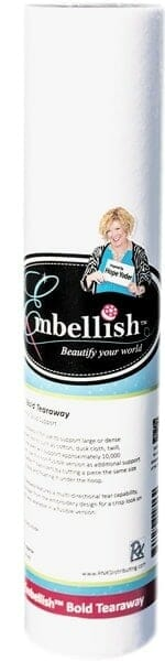 "Embellish Bold Tearaway 20"" x 10 yd - Designs by Hope Yoder"