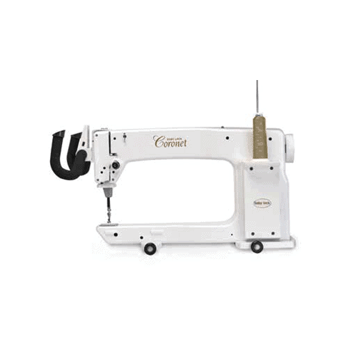 """WIth 16"""" to the right of the needle and 8-1/4"""" high throat space, the Coronet gives ample room to finish quilts of all sizes."""
