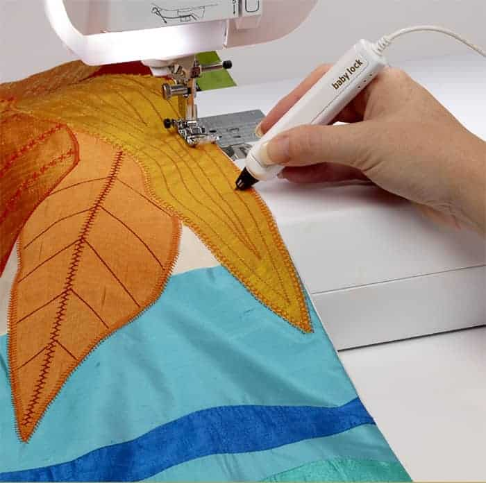 The Sensor Pen allows you to tell your machine exactly where you want your needle and stitches positioned.