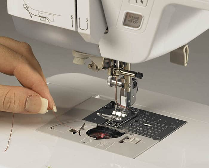 The Quick-Set, Drop-In bobbin makes changing bobbins simple.