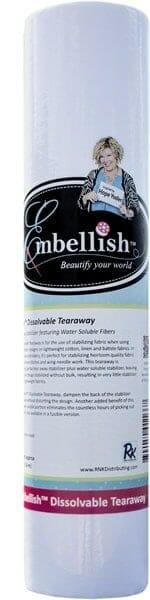 "Embellish Dissolvable Tearaway 15"" x 10 yd - Designs by Hope Yoder"