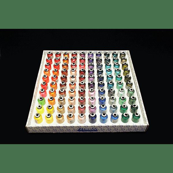 Floriani 100 Spool Embroidery Thread Set 2 - 1000m (F100TS2)