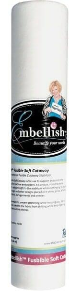 """Embellish Fusible Soft Cutaway 12"""" x 10 yd"""