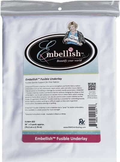 """Embellish Fusible Underlay 30"""" x 3 yd - White - Designs by Hope Yoder"""