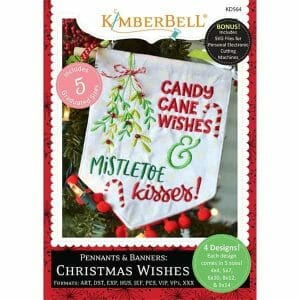 Kimberbell Designs Pennants & Banners: Christmas Wishes - Embroidery Design CD