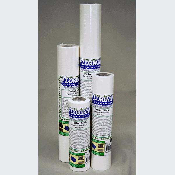 """Floriani Perfect Stick Pressure Sensitive Tearaway - Pre-Cut Sheets 9"""" x 9"""" (FPS9)"""