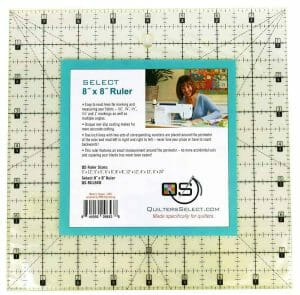 """Quilter's Select Non Slip Quilting Ruler - 8"""" x 8"""""""